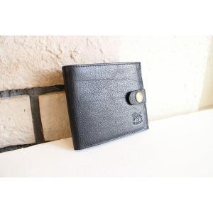 2017 NEW COLLECTION ILBISONTE イルビゾンテ 財布 二つ折り財布 ウォレット ブラック 黒 メンズ 男性用