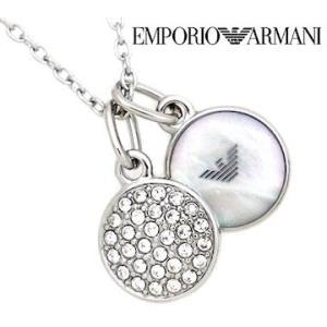 EMPORIO ARMANI エンポリオ アルマーニ EGS2156040 パヴェ ダブルチャーム アクセサリー イーグルロゴ ラインストーン シルバー ネックレス/ペンダント|j-sekine2nd