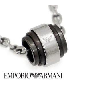 EMPORIO ARMANI エンポリオ アルマーニ EGS2467040 アクセサリー イーグルロゴ ネックレス/ペンダント シルバー×ガンメタル|j-sekine2nd