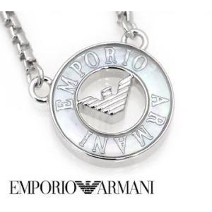 e830c56f41eb EMPORIO ARMANI エンポリオ アルマーニ EG3343040 アクセサリー イーグルロゴ シェル シルバー925 ネックレス/ペンダント  シルバー| ...