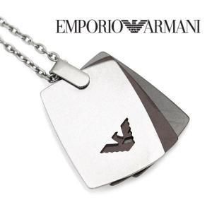 EMPORIO ARMANI  エンポリオ アルマーニ EGS2471040 アクセサリー イーグルロゴ  ネックレス/ペンダント シルバー×ブロンズ×ガンメタル|j-sekine2nd