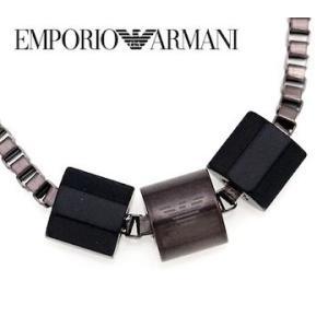 EMPORIO ARMANI エンポリオ アルマーニ EGS2433001 アクセサリー イーグルロゴ 3連リング ブラック×ガンメタピンク ネックレス/ペンダント|j-sekine2nd