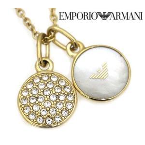 EMPORIO ARMANI エンポリオ アルマーニ EGS2157710 パヴェ ダブルチャーム アクセサリー イーグルロゴ ネックレス/ペンダント ゴールド|j-sekine2nd