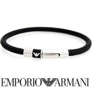 EMPORIO ARMANI  エンポリオ アルマーニ EGS1624 アクセサリー ブレスレット ブラック イーグルロゴ|j-sekine2nd