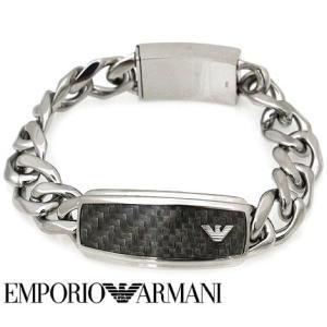 EMPORIO ARMANI エンポリオ アルマーニ EGS1688040 アクセサリー イーグルロゴ ブレスレット グレー×シルバー|j-sekine2nd