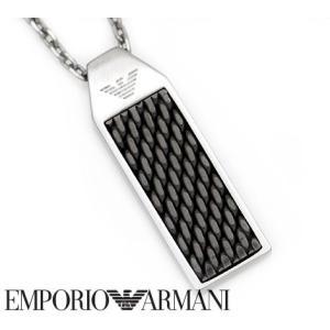 EMPORIO ARMANI エンポリオ アルマーニ EGS2589040 アクセサリー イーグルロゴ プレート ネックレス/ペンダント シルバー|j-sekine2nd