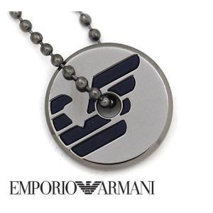 EMPORIO ARMANI エンポリオ アルマーニ EGS2545060 アクセサリー イーグルロゴ ネックレス/ペンダント ボールチェーン ガンメタル|j-sekine2nd