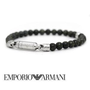 EMPORIO ARMANI エンポリオ アルマーニ EGS2504040 アクセサリー イーグルロゴ ブレスレット ビーズ付 グリーン|j-sekine2nd
