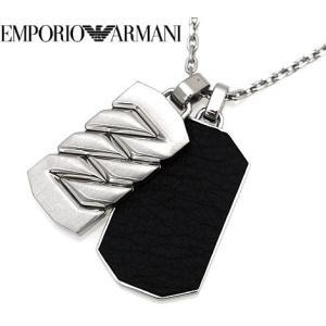 EMPORIO ARMANI  エンポリオ アルマーニ EGS2437040 アクセサリー イーグルロゴ  ネックレス/ペンダント シルバー×ブラック|j-sekine2nd