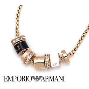 EMPORIO ARMANI エンポリオ アルマーニ EGS2424221 レディース アクセサリー イーグルロゴ リング チョーカー ネックレス/ペンダント ピンクゴールド|j-sekine2nd