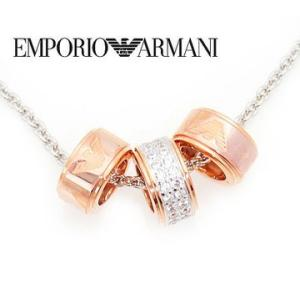 EMPORIO ARMANI  エンポリオ アルマーニ EG3045040 アクセサリー イーグルロゴ ラインストーン付 3連リング シルバー925 ネックレス/ペンダント j-sekine2nd