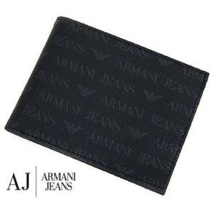 ARMANI JEANS アルマーニジーンズ 06V2F J4 12 NERO 小銭入れ付 メンズ用二つ折り財布 ブラック|j-sekine2nd