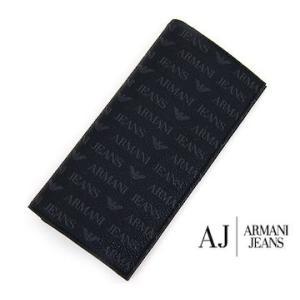 ARMANI JEANS アルマーニジーンズ 06V2O J4 12 BLACK 小銭入れ付 メンズ用長財布 ブラック|j-sekine2nd