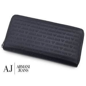ARMANI JEANS  アルマーニジーンズ 938542 CC999 00535 BLU オーガナイザー 小銭入れ付 メンズ用 ラウンドファスナー長財布 ネイビー|j-sekine2nd