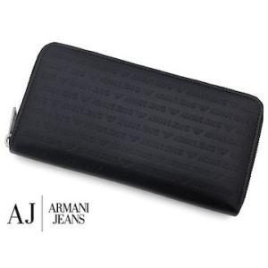 ARMANI JEANS  アルマーニジーンズ 938542 CC999 00020 NERO オーガナイザー 小銭入れ付 メンズ用 ラウンドファスナー長財布 ブラック|j-sekine2nd