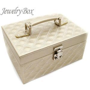 ジュエリーボックス JewelryBox キルティング 宝石箱 JB-9100 シャンパンゴールド|j-sekine2nd