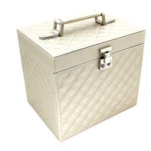 ジュエリーボックス JewelryBox キルティング 宝石箱 シャンパンゴールド 大容量|j-sekine2nd