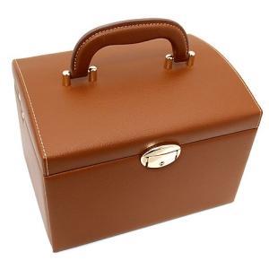 ジュエリーボックス JewelryBox 宝石箱 JB-8200 茶色×ゴールド 鍵付き|j-sekine2nd