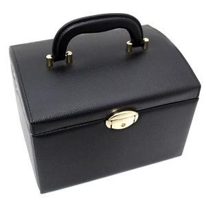 ジュエリーボックス JewelryBox 宝石箱 JB-8200 ブラック×ゴールド 鍵付き|j-sekine2nd