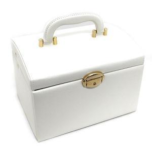ジュエリーボックス JewelryBox 宝石箱 JB-8200 ホワイト×ゴールド 鍵付き|j-sekine2nd