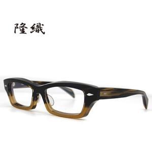 隆織-TAKAORI TO-015 col.5 メガネフレーム 伊達眼鏡 ブラウン|j-sekine2nd