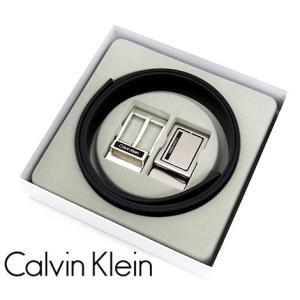 Calvin Klein カルバンクライン 74203 4in1 リバーシブル ベルト バックル メンズ アクセサリー セット ブラック×ブラウン|j-sekine2nd