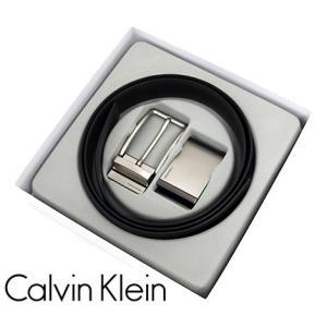 Calvin Klein カルバンクライン 74312 4in1 リバーシブル ベルト バックル メンズ アクセサリー セット レザー ブラック×ブラウン|j-sekine2nd