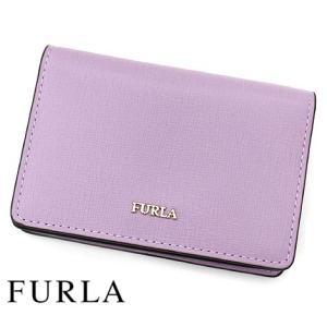FURLA フルラ 1034251 BABYLON S BUSINESS CARD CASE バビロン レザー 名刺入れ/カードケース LILLA ライトパープル|j-sekine2nd