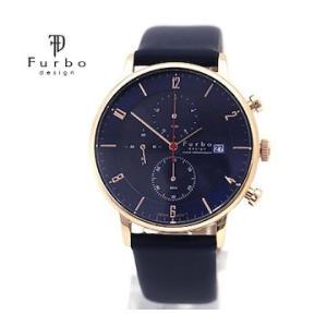 Furbo  フルボ F761-PNVNV メンズ 腕時計 ソーラー クロノグラフ ネイビー×ゴールド|j-sekine2nd