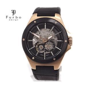 Furbo フルボ F2501PBKBK メンズ 腕時計 自動巻 ピンクゴールド×ブラック レザーベルト|j-sekine2nd
