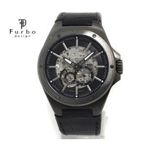 Furbo フルボ F2501GBKBK メンズ 腕時計 自動巻 ガンメタ×ブラック レザーベルト|j-sekine2nd
