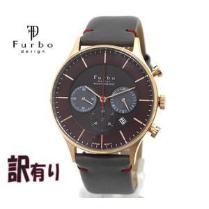 Furbo フルボ アウトレット F751-PBRGY 訳有り メンズ 腕時計 ソーラー クロノグラフ ピンクゴールド×ブラウン×グレー|j-sekine2nd