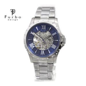 Furbo  フルボ F5021SNVSS メンズ 腕時計 自動巻 シルバー×ネイビー|j-sekine2nd