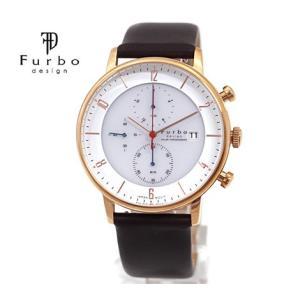 Furbo  フルボ F761-PWHDB メンズ 腕時計 ソーラー クロノグラフ ゴールド×ホワイト×ダークブラウン|j-sekine2nd