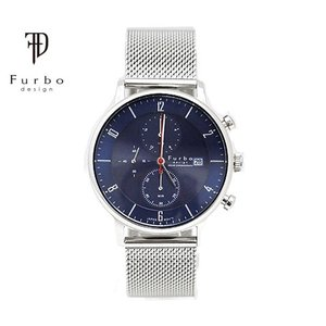 Furbo フルボ F761-SNVSS メンズ 腕時計 ソーラー クロノグラフ シルバー×ネイビー...