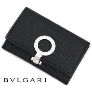 BVLGARI ブルガリ 33749 グレインレザー ブルガリブルガリ スモール コイン パース 小銭入れ/コインケース ブラック|j-sekine2nd