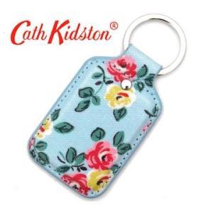 CathKidston キャスキッドソン 595131 Dusty Blue キーフォブ/キーリング キーホルダー ハットンローズ ダスティブルー|j-sekine2nd