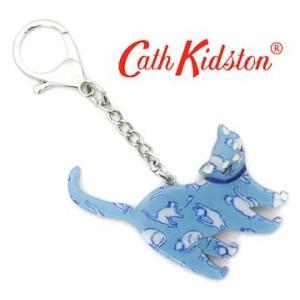 CathKidston キャスキッドソン 642231 Mid Blue キーフォブ/キーリング キーホルダー キャット バッグ チャーム モノ キャット ミッドブルー|j-sekine2nd