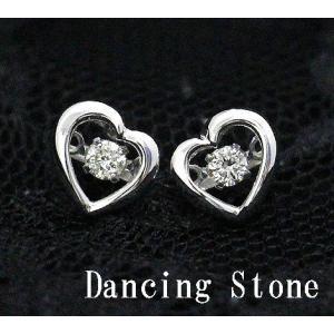 Dancing Stone ダンシングストーン K18WG ホワイトゴールド ダイヤモンド ピアス ハート トータル0,100ct FTWE-0078 j-sekine2nd