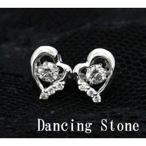 Dancing Stone ダンシングストーン K18WG ホワイトゴールド ダイヤモンド ピアス ハート トータル0,240ct FTWE-0067 鑑別書付 j-sekine2nd