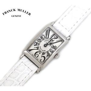 FRANCK MULLER フランク・ミュラー 802QZ ロングアイランド プティ LONG ISLAND PETIT RELIEF レザーバンド ホワイト×シルバー  j-sekine2nd