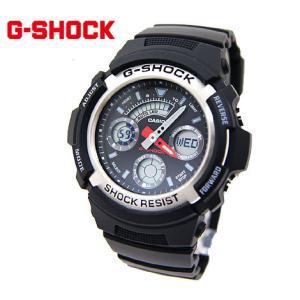 CASIO カシオ G-SHOCK AW-590-1AJF デジアナ ブラック×シルバー 腕時計|j-sekine2nd