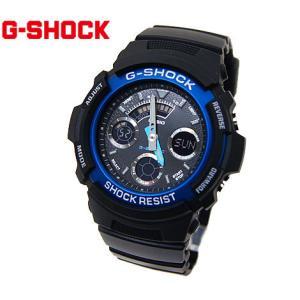 CASIO カシオ G-SHOCK AW-591-2AJF デジアナ ブラック×ブルー 腕時計|j-sekine2nd