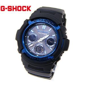 CASIO カシオ G-SHOCK AWG-M100A-1AJF 腕時計 デジアナ ソーラー電波 ブラック×メタリックブルー|j-sekine2nd