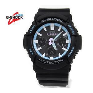 CASIO カシオ G-SHOCK GAW-100PC-1AJF 腕時計 Neon accent color ブラック×ペールブルー デジアナ ビッグケース ソーラー電波|j-sekine2nd