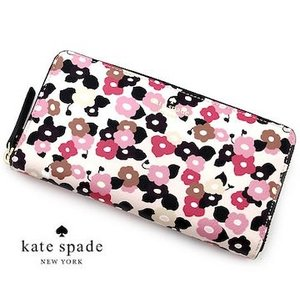 kate spade ケイトスペード PWRU6154 687 LACEY HYDE LANE FLORAL 小銭入れ付 ラウンドファスナー長財布 花柄 フラワー ローズ ROSEDEW|j-sekine2nd