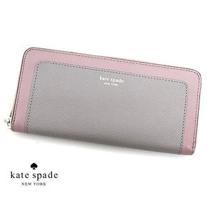 kate spade ケイトスペード PWRU7771 775 MARGAUX SLIM CONTINENTAL WALLET 小銭入れ付 ラウンドファスナー長財布 スリム TRUE TAUPE MULTI|j-sekine2nd