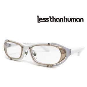 Less than human レスザンヒューマン SAKIGAKE 59 メガネフレーム 伊達眼鏡 ホワイト×ゴールド|j-sekine2nd