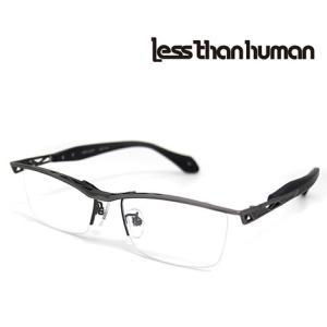 Less than human レスザンヒューマン REPLICANT 89 メガネフレーム 伊達眼鏡 アンティックシルバー×マットブラック|j-sekine2nd