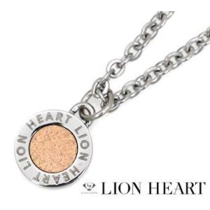 LION HEART ライオンハート 04N126SL ステンレス メンズ/レディース サークル ネックレス/ペンダント シルバー×ピンクゴールド|j-sekine2nd